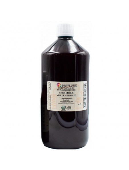 Neem (Margousier) et vit E Bio - Huile végétale Azadirachta indica 1000 ml - Bioflore