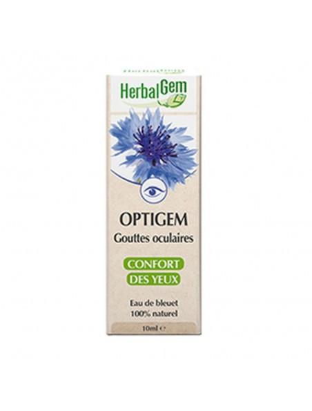 OptiGEM Gouttes oculaires (collyre) au bleuet - Yeux secs ou fatigués 10 ml - Herbalgem