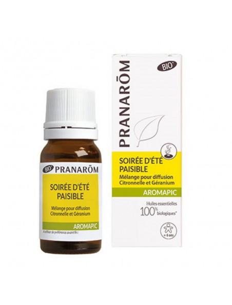 Soirée d'été paisible Aromapic Bio - Mélange pour diffusion 10 ml - Pranarôm