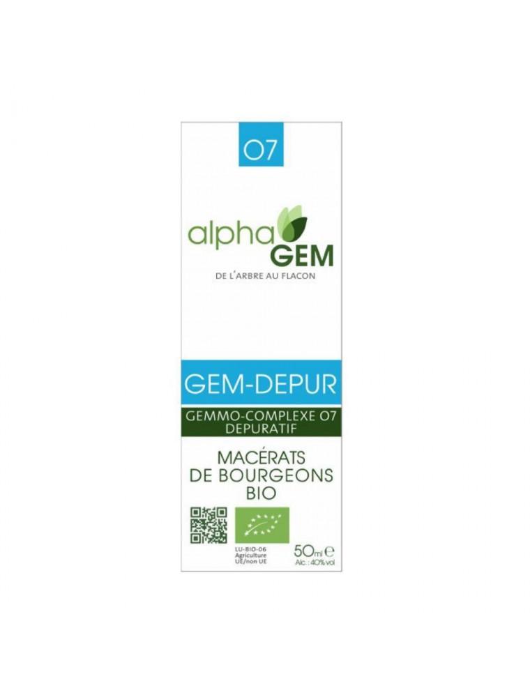 Gem-Depur Complexe n°07 Bio - Dépuratif 50 ml - Alphagem