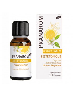 Zeste Tonique Bio - Les Diffusables 30ml - Pranarôm