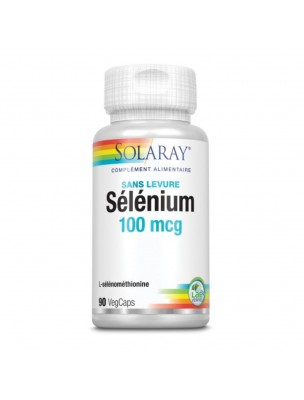 Sélénium 100µg - Antioxydant 90 capsules végétales - Solaray