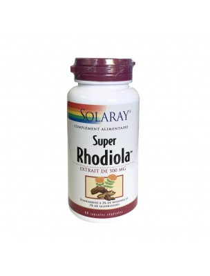 Super Rhodiola 500 mg - Stress et Fatigue 60 capsules végétales - Solaray
