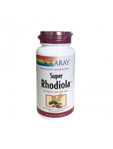 Super Rhodiola 500 mg - Stress et Fatigue 60 capsules végétales - Solaray