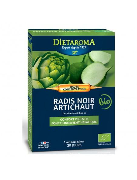 C.I.P. Artichaut Radis Noir Bio - Confort Digestif et Hépathique 20 ampoules - Dietaroma