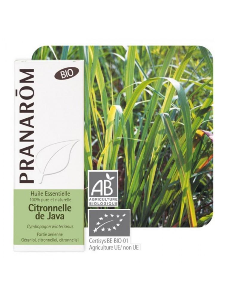 Citronnelle de Java Bio - Huile essentielle de Cymbopogon winterianus 10 ml - Pranarôm