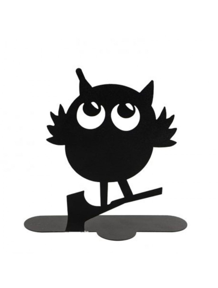 Hibou noir - Porte-spirales pour encens - Les Encens du Monde