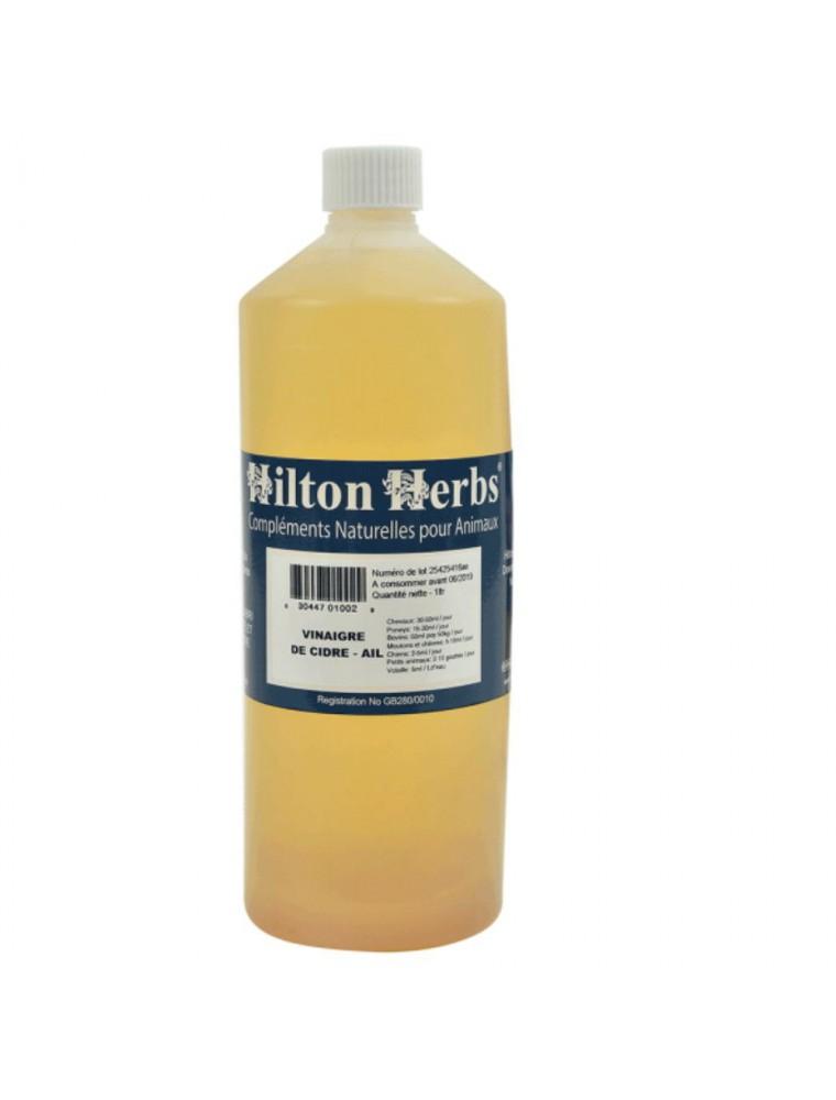 Vinaigre de Cidre + Ail - Vitamines Chevaux, chiens, volailles et oiseaux 1 Litre - Hilton Herbs