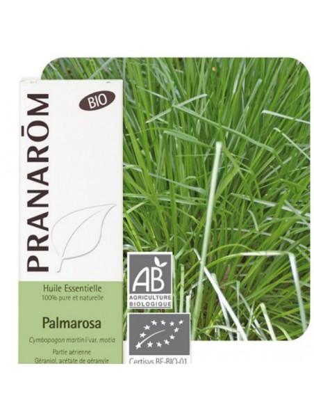 Palmarosa Bio - Huile essentielle de Cymbopogon martinii var. motia 10 ml - Pranarôm