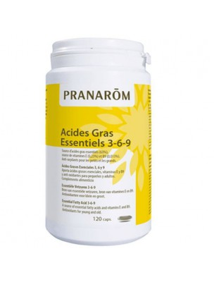 Image de Acides Gras essentiels 3, 6, 9 Pranacaps - Concentration et Mémoire 120 capsules - Pranarôm depuis Huiles essentielles, végétales et hydrolats de l'herboristerie