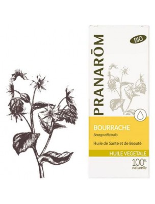Bourrache Bio - Huile végétale Borago officinalis 50 ml - Pranarôm