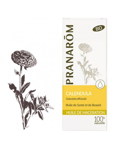 Calendula (Souci) Bio - Huile végétale Calendula officinalis 50 ml - Pranarôm