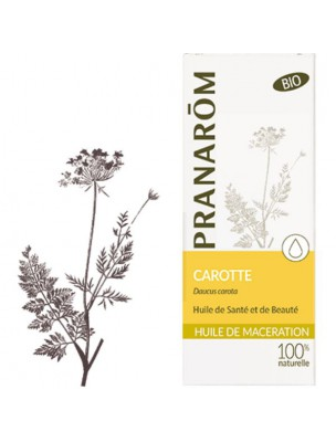 Carotte - Huile végétale Daucus carota 50 ml - Pranarôm