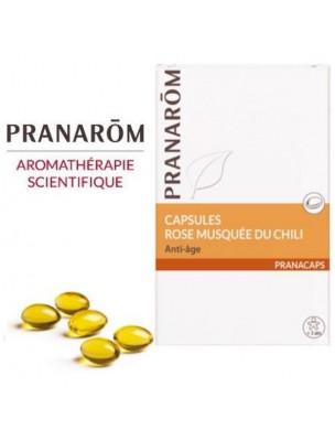 Rose musquée du Chili - Jeunesse et vitalité 40 capsules - Pranarôm