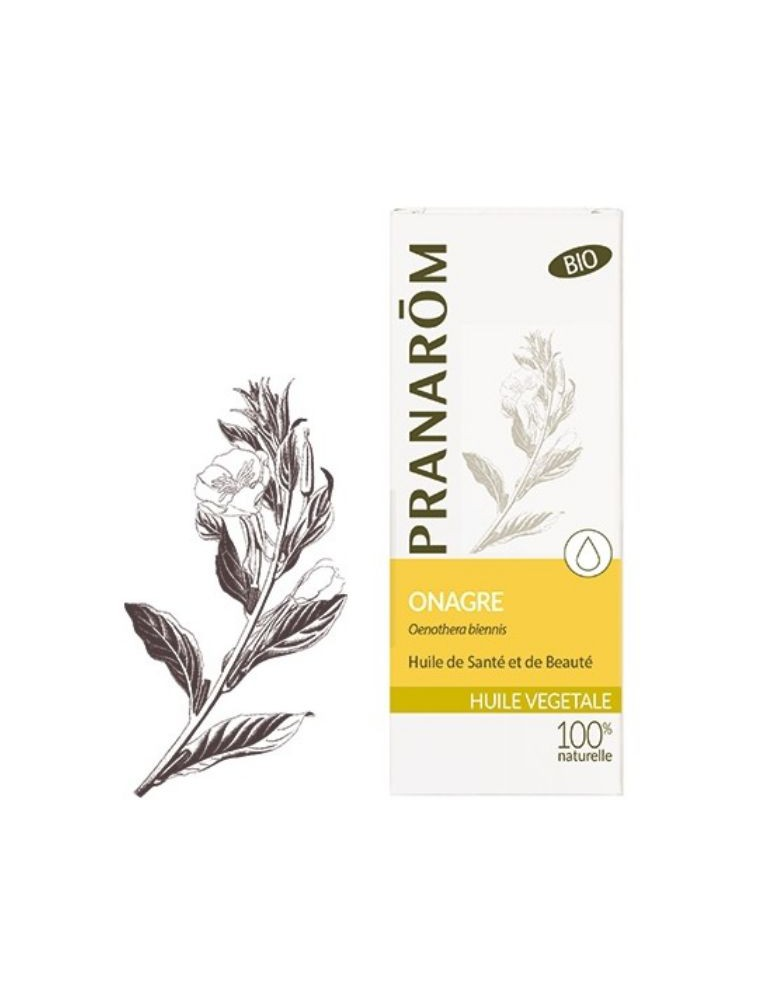 Onagre Bio - Huile végétale Oenothera biennis 50 ml - Pranarôm