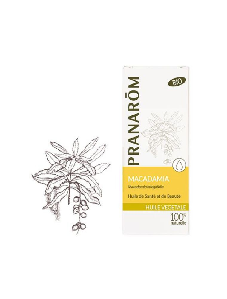 Macadamia Bio - Huile végétale vierge Macadamia integrifolia 50 ml - Pranarôm