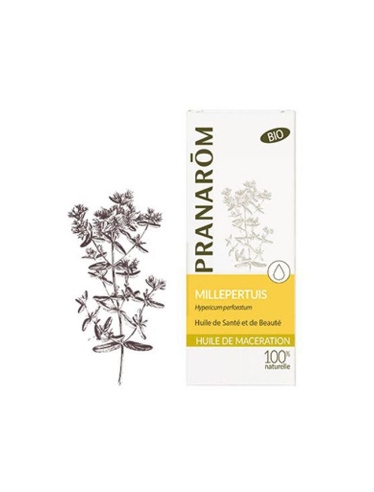 Millepertuis Bio - Huile de macération Hypericum perforatum - Pranarôm – 50 ml