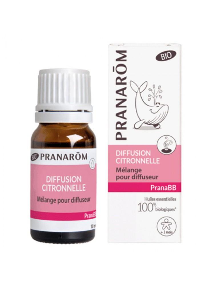 Pranabb Diffusion Citronnelle - Répulsif 10 ml - Pranarôm