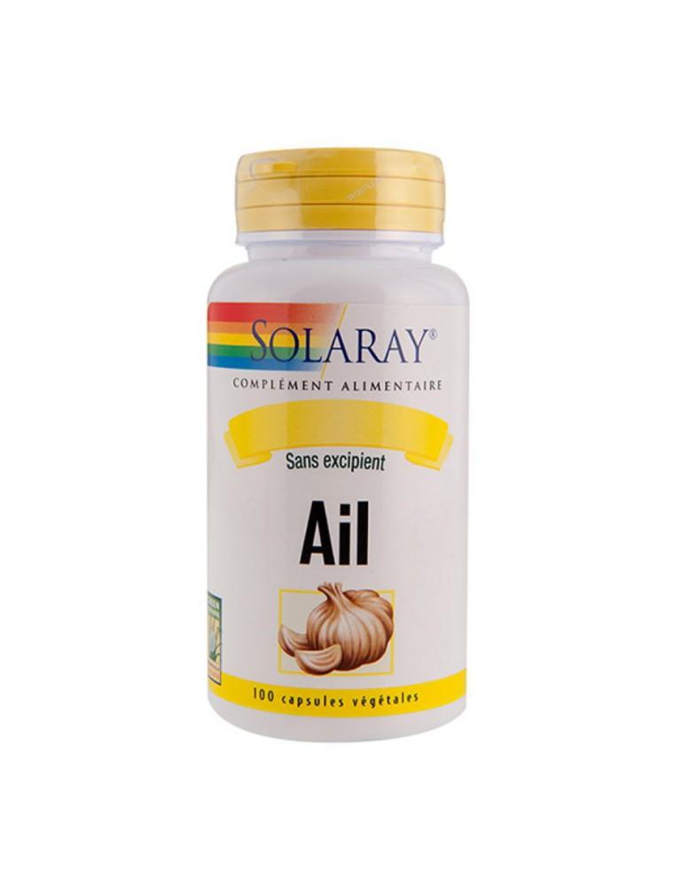 Ail 600 mg - Immunité et Circulation 100 capsules végétales - Solaray