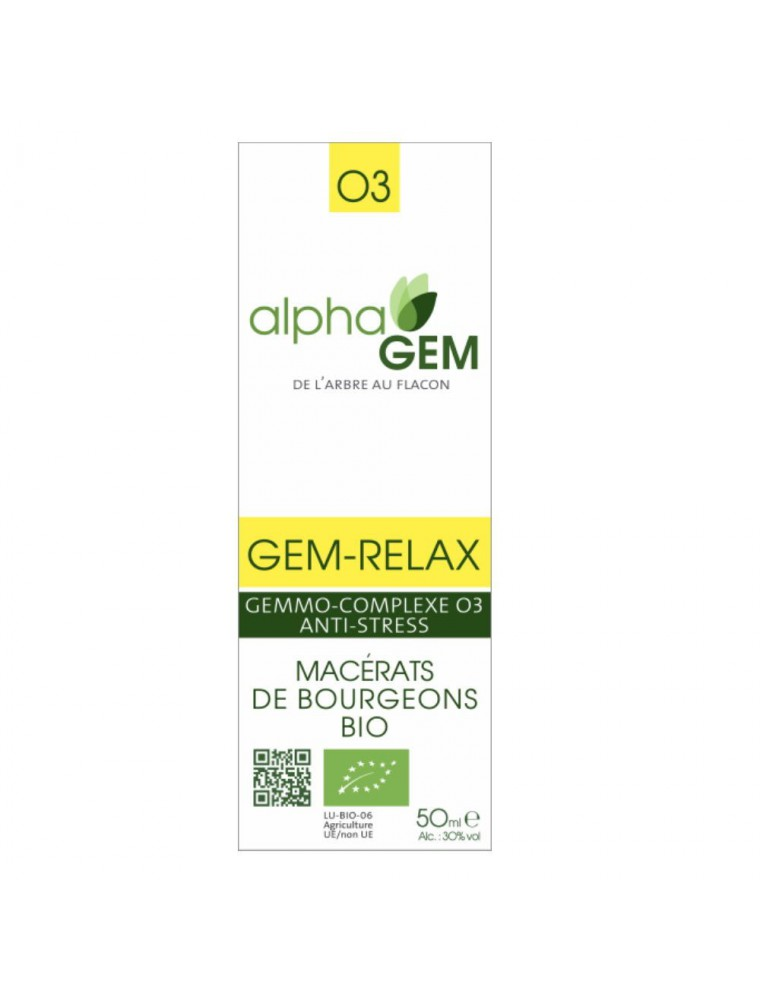 Gem-Relax Complexe n°03 Bio - Stress 50 ml - Alphagem
