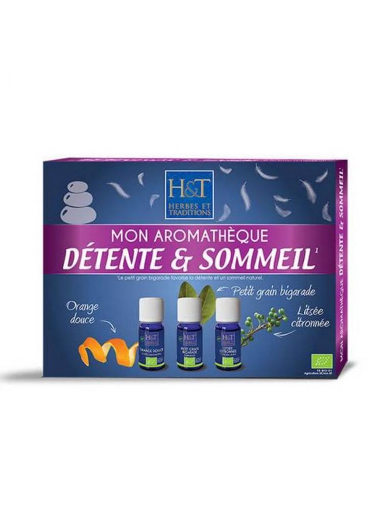 Coffret découverte de l'aromathérapie - Détente et Sommeil 3x10 ml - Herbes et Traditions