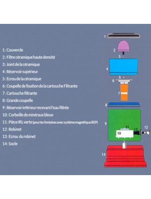 Fontaine Eva 700 Noire BEP Avec système magnétique 7 Litres - Fontaine Eva