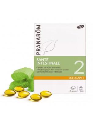 Oléocaps + 2 Bio - Santé intestinale 30 capsules d'huiles essentielles - Pranarôm