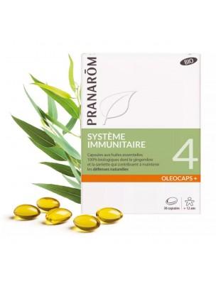 Oléocaps + 4 Bio - Système Immunitaire 30 capsules d'huiles essentielles - Pranarôm