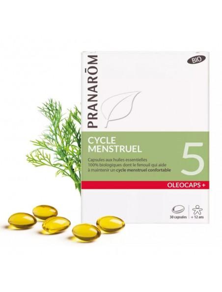 Oléocaps + 5 Bio - Cycle Menstruel 30 capsules d'huiles essentielles - Pranarôm
