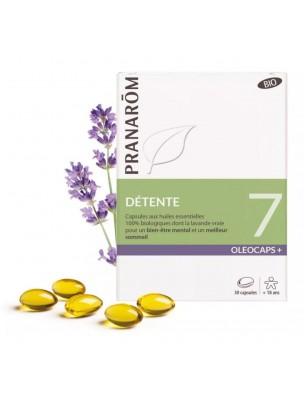Oléocaps + 7 Bio - Détente 30 capsules d'huiles essentielles - Pranarôm