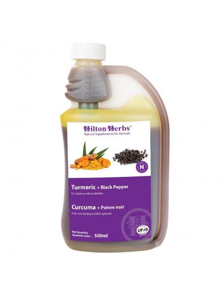 Curcuma + Poivre Noir - Articulations des chevaux 500ml - Hilton Herbs