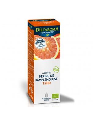 Extrait de Pépins de Pamplemousse 1200 Bio - Immunité 50 ml - Dietaroma