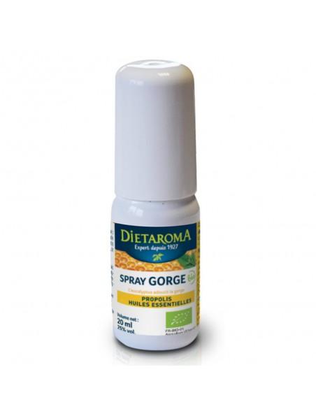 Spray gorge Bio - Propolis et Huiles essentielles 20 ml  - Dietaroma