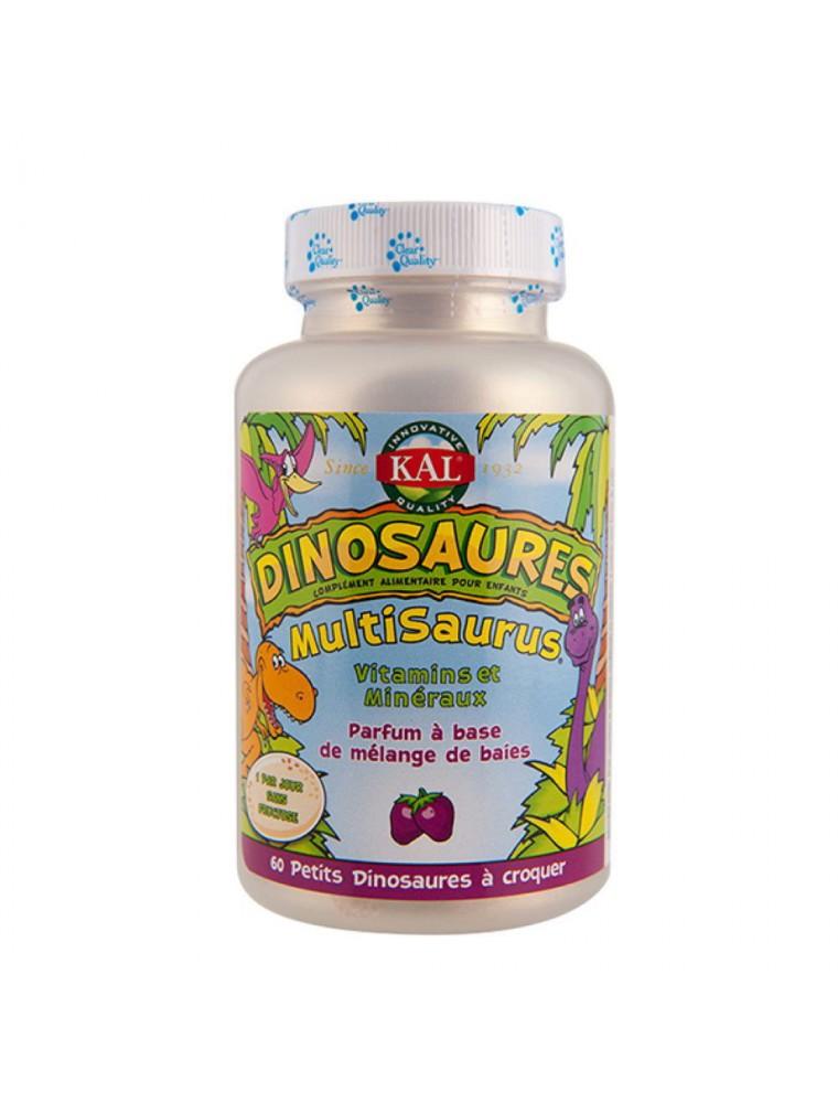 Dinosaures Multisaurus - Vitamines pour Enfants 60 dinosaures à croquer - KAL