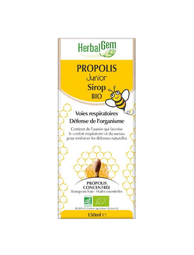 Propolis Junior Sirop Bio - Système respiratoire 150 ml - Herbalgem