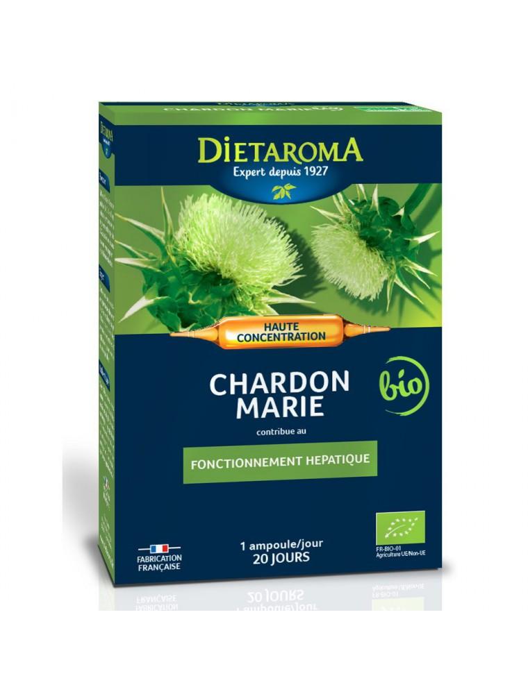 C.I.P. Chardon Marie Bio - Fonctionnement hépatique 20 ampoules - Dietaroma