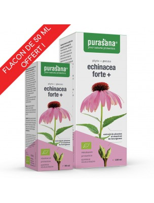 Echinacea Forte + Bio Duopack - Système immunitaire 100 ml + 50 ml offert - Purasana