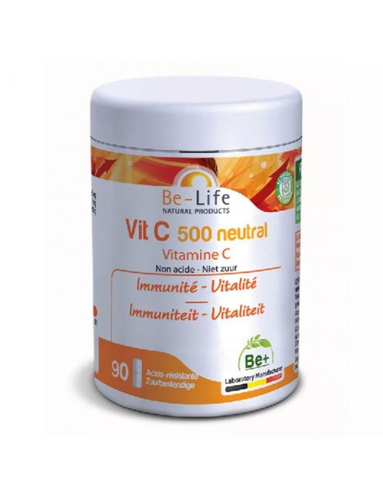 Vit C 500 neutral (Vitamine C non acide) - Immunité et Vitalité 90 gélules - Be-Life