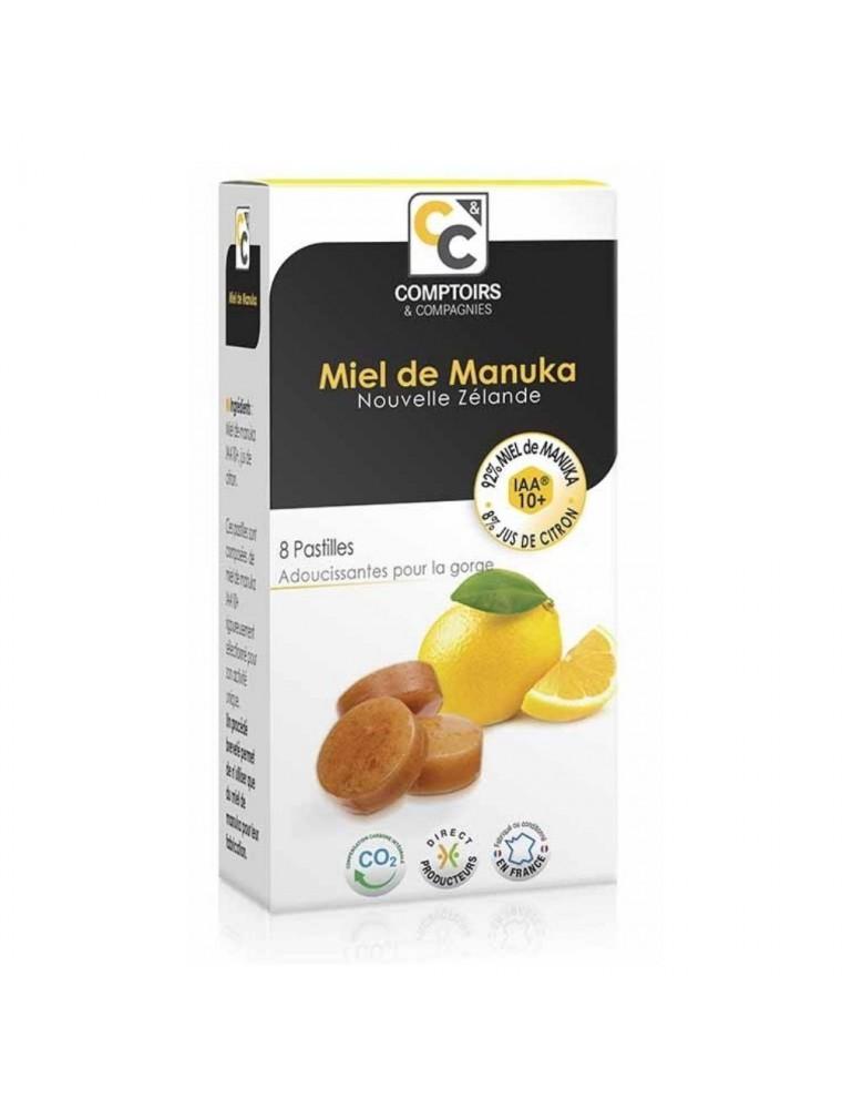 Pastilles au miel de Manuka au citron - Adoucissantes pour la gorge 20g - Comptoirs et Compagnies