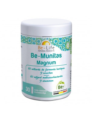 Be-Munitas Magnum - Probiotiques 60 milliards de ferments lactiques 30 gélules - Be-Life