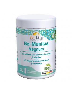 Image de Be-Munitas Magnum - Probiotiques 60 milliards de ferments lactiques 30 gélules - Be-Life depuis Les probiotiques au service de la digestion