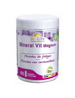 Mineral Vit Magnum - Fatigue 60 gélules - Be-Life