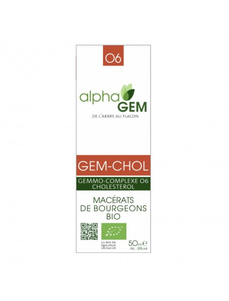 Gem-Chol Complexe n°06 Bio - Cholestérol 50 ml - Alphagem