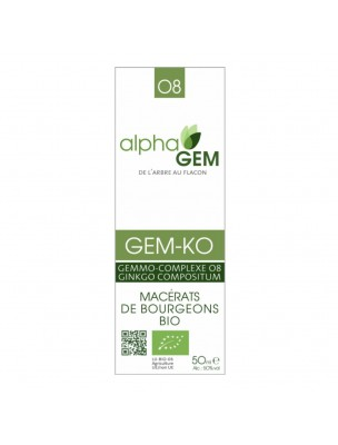 Gem-Ko Complexe n°08 Bio - Concentration 50 ml - Alphagem