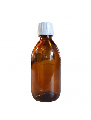 Flacon en verre brun de 250 ml avec compte-gouttes