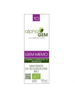 Gem-Memo Complexe n°10 Bio - Mémoire 50 ml - Alphagem