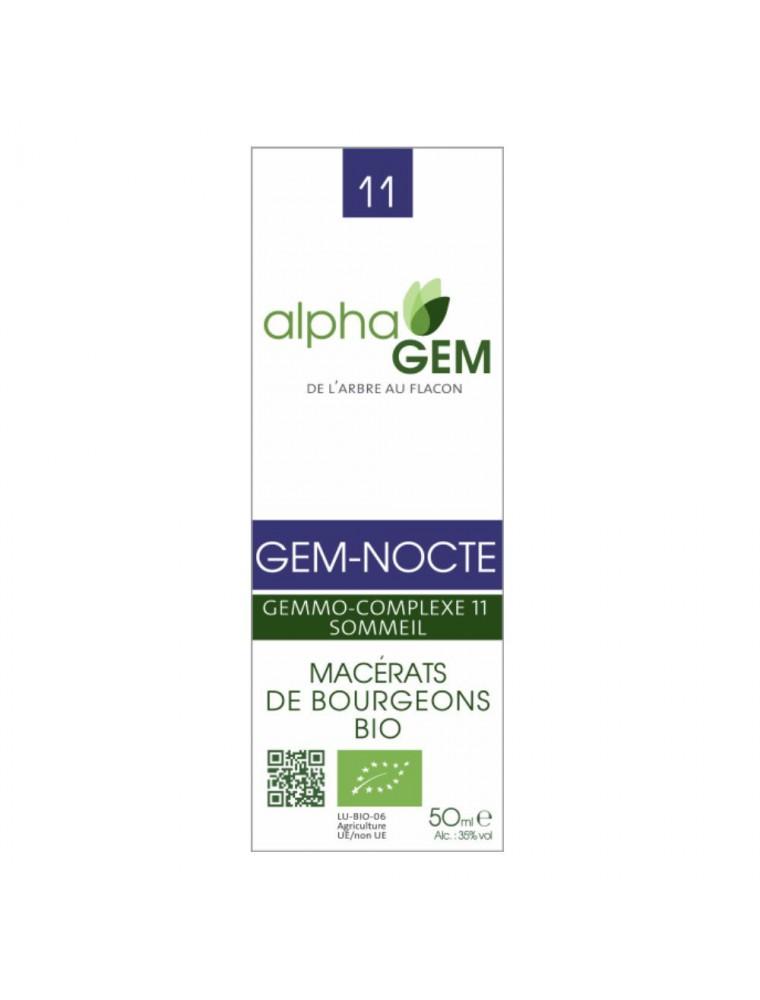 Gem-Nocte Complexe n°11 Bio - Sommeil 50 ml - Alphagem