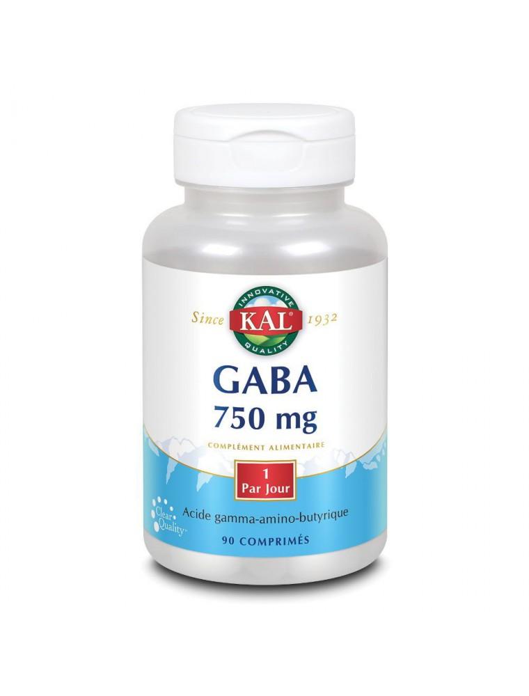 Gaba 750 mg - Stress et Sommeil 90 comprimés - KAL