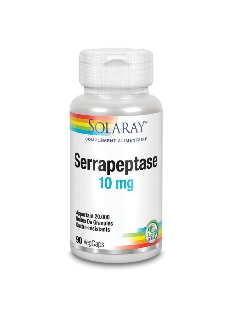 Serrapeptase 10 mg - Articulations et Douleurs 90 capsules - Solaray