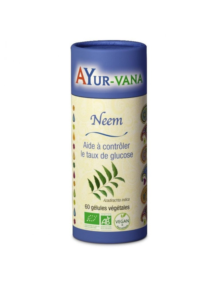Neem Bio - Glycémie normale 60 gélules - Ayur-Vana